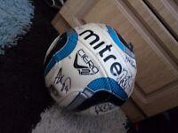 Signed Football (Morecambe FC) (Ball) (Football) (signed) (Morecambe)