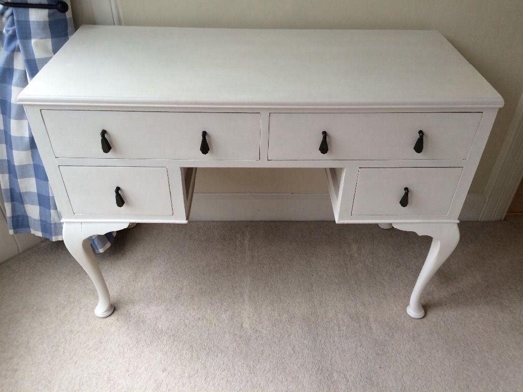 Furniture Legs Edinburgh painted art deco dressing table with queen anne legs | in
