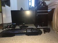 MEDION DESKTOP // includes; keyboard, monitor, headset, microphone and monitor. OPEN TO OFFERS