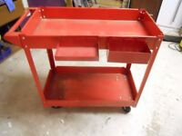 GARAGE / WORKSHOP Trolley two shelf and magnetic holders