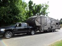 2014 Prime Time Crusader 294RLT Fifth Wheel with 2008 Dodge Ram Truck