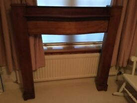 REDUCED Art Deco 1930s original wood mantelpiece £50 ONO