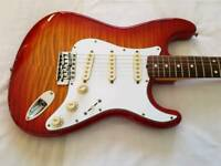 Rare 1994 Fender Fotoflame Stratocaster Made In Japan