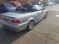 FOR SALE BMW 3 SERIES CONVERTIBLE MANUAL 2004 £1475