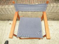 2 x directors garden chairs,, sturdy & good condition.