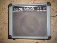 ROCKET 20-B BASS AMP. As new condition.