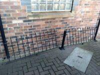 Low Wall Steel railings, Metal fencing