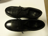 Dr Martens Original Airwair DM'S Industrial Black Leather Steel Toe Safety Shoes Size 10