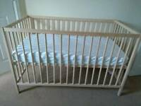 Cot and Pocket Sprung Mattress