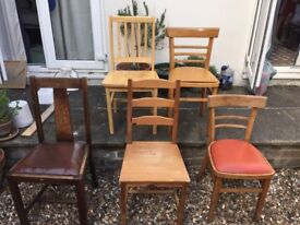 Variety of chairs for sale - vintage, retro and modern £10 each