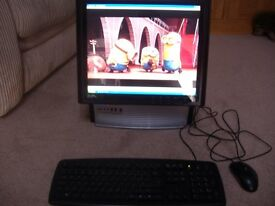 RM all in one pc 17 ins monitor , with build in speakers , 80 gb harddrive, 1 gb, ram ,