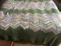 Hand-made crocheted blanket