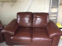 2 seater and arm chair