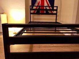 SINGLE BLACK BED FRAME