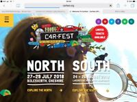 2 Carfest North tickets for Saturday 28th July