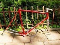 Vintage Italian Prezan Frame 56cm Campagnolo Dropouts Stem Chainring Panto