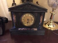 HAC Victorian slate marble mantel clock