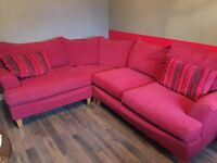 Red Corner Sofa, immaculate contain, smoke and pet free.