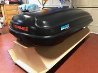 ALMOST NEW - KAMEI Husky XXL black roof box LEFT side opening (KM399)