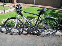Boardman Hybrid Gent's Bike. 58cm. frame. Disc Brakes. Front Suspension. Great Condition.