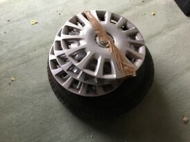 Wheel trims for a Vauxhall Corsa