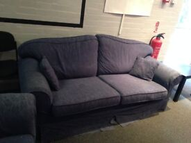 Sofa and two armchairs set- comfortable, clean, a little worn