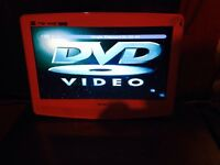 Pink flatscreen tv with built in dvd