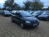2002 Vauxhall Zafira 1.6 1 Years MOT Service History 1 Former Keeper Low Milage Cheap Car