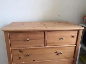Baby changing dresser / chest of drawers with removable changing table top