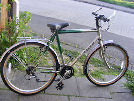 "MANS CARRERA BIKE 21"" FRAME IN GREAT WORKING CONDITION FITTED SPEEDO"