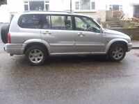 2003 MODEL SUZUKI GRAND VITARA XL-7 4X4 7 SEATER YEARS MOT T/BAR POSS PART X