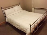 Double bed frame with £300 foam Ikea mattress £150.