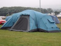SOLD Coleman Columbia 203101, 10-man, three bedroomed tent. Hardly used.