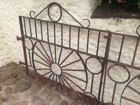 Wrought iron pair of gates