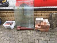 Tiles , paving slabs , bricks , glass windows