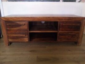 Indian mango wood entertaiment unit and tables