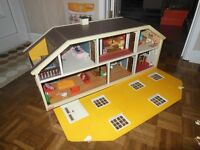 Lundby Dolls House Vintage Gothenburg 1978 complete with furniture & Dolls