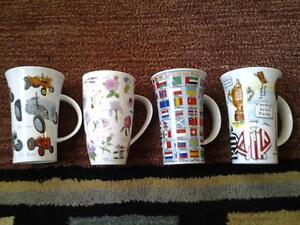 4 BRAND NEW MADE IN ENGLAND XL TEA COFFEE CUPS 4 FOR 15$