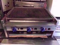 CHARCOAL USED COMMERCIAL BBQ FASTFOOD GRILL MEAT CATERING MACHINE TAKEAWAY CAFE DINER RESTAURANT