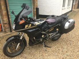 Yamaha FJ1200 with new tyres Givi panniers.