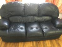 3 Seater & 2 Seater Neavy Blue colour leather sofa