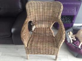 Rattan Armchair or Nursing Chair