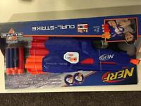 Brand new Nerf dual strike toy gun