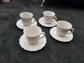 Shabby chic cups and saucers
