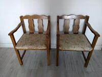 Retro Vintage wooden floral chairs(Delivery Possible)