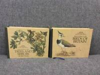 Rare vintage Readers Digest Field Guides Birds of Britain Trees and Shrubs of Britain Books 80s SDHC