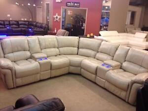 Store Wide Super SALE! IS ON  Brand New 6pc Power Recliners Sectional W/Console & USB Port