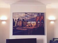 Extra Large Framed New York Skyline 55 x 40 inches