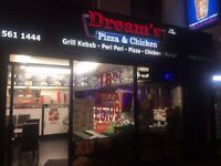 "Refurbished pizza & chicken take-away ""Dream's"" for sale/rent in Uxbridge"