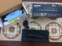 Shure SM57 microphone Brand New